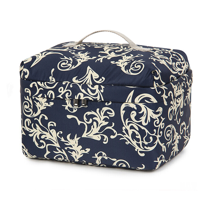 unique retro floral cosmetic bag wholesale
