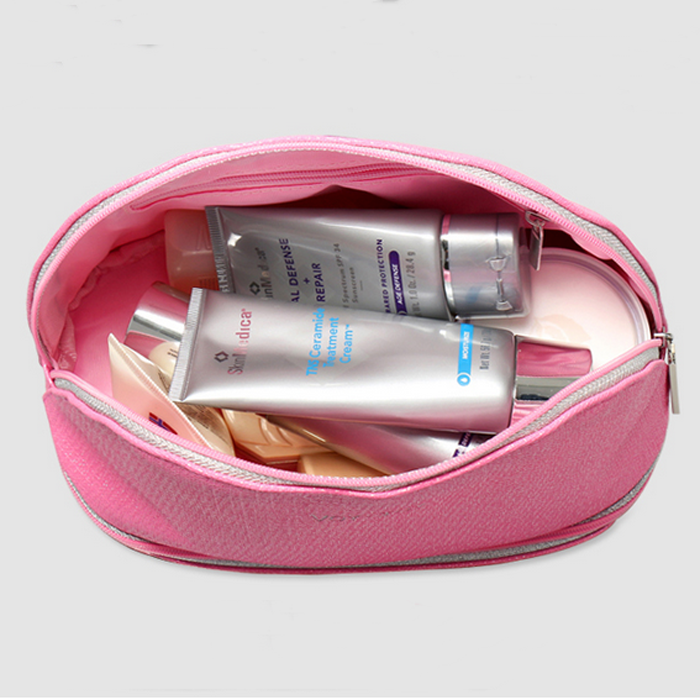PU pink cosmetic bag