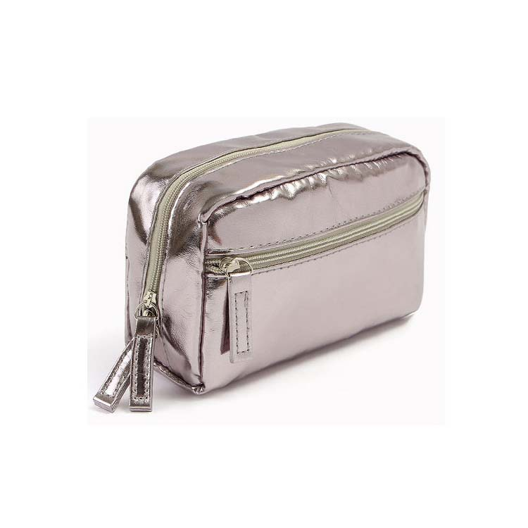 Cute zippered pu cosmetic bags